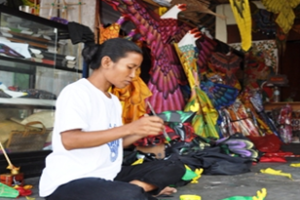Make a Kite with the locals
